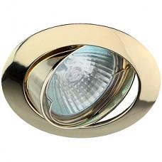Светильник ЭРА литой поворотный золото