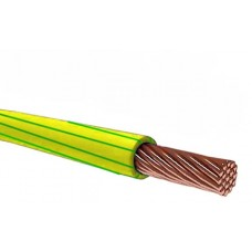 Провод гибкий ПВ3 (ПУГВ) 1*1,5 желто-зеленый