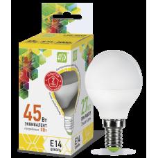 Лампа светодиодная ASD E-14 шар 5W теплая