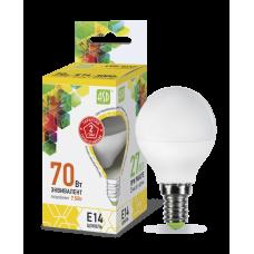 Лампа светодиодная ASD E-14 шар 7.5W теплая