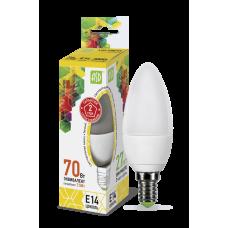 Лампа светодиодная ASD E-14 свеча 7,5W теплая