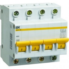 Автоматический выключатель IEK ВА47-29 4P  6А