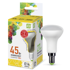 Лампа светодиодная ASD R50 E-14  5W теплая