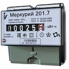 Электросчетчик МЕРКУРИЙ 201.7 однофазный, однотарифный