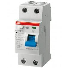 УЗО ABB F202 16А 10mA тип (AC)