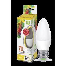 Лампа светодиодная ASD E-27 свеча 7.5W теплая