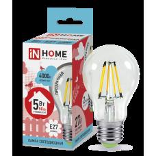 Лампа светодиодная ASD E-27 A60 5W холодная филамент