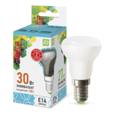 Лампа светодиодная ASD R39 E-14  3W холодная