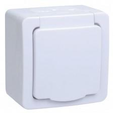 Розетка с крышкой IEK Гермес Plus IP54 белый