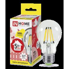 Лампа светодиодная ASD E-27 A60 5W теплая филамент