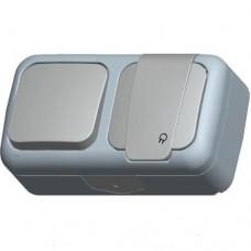 Блок 1кл+розетка с крышкой VI-KO Palmiye IP54