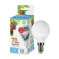 Лампа светодиодная ASD E-14 шар 7.5W холодная