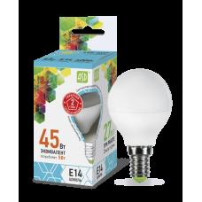 Лампа светодиодная ASD E-14 шар 5W холодная