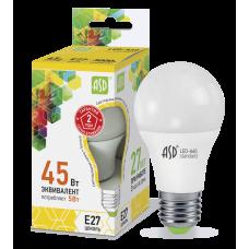 Лампа светодиодная ASD A60 E-27 5W теплая